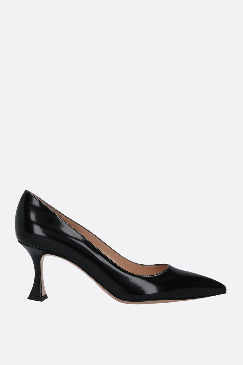 GIANVITO ROSSI: shiny leather pumps Color Black_1