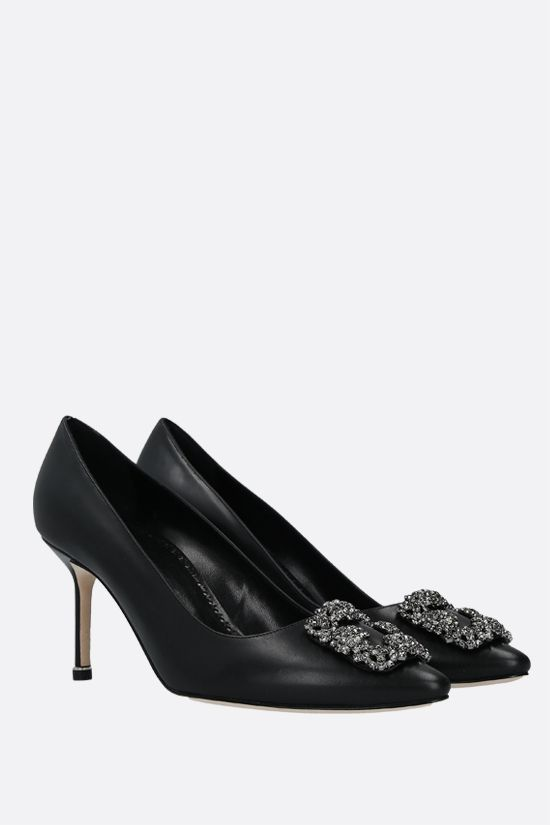 MANOLO BLAHNIK: Hangisi smooth leather pumps Color Black_2