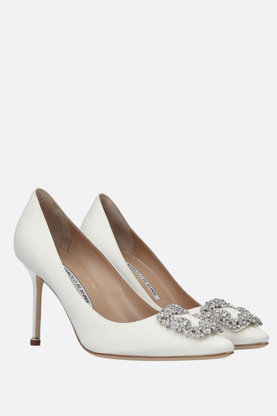 MANOLO BLAHNIK: Hangisi satin pumps Color Yellow_2