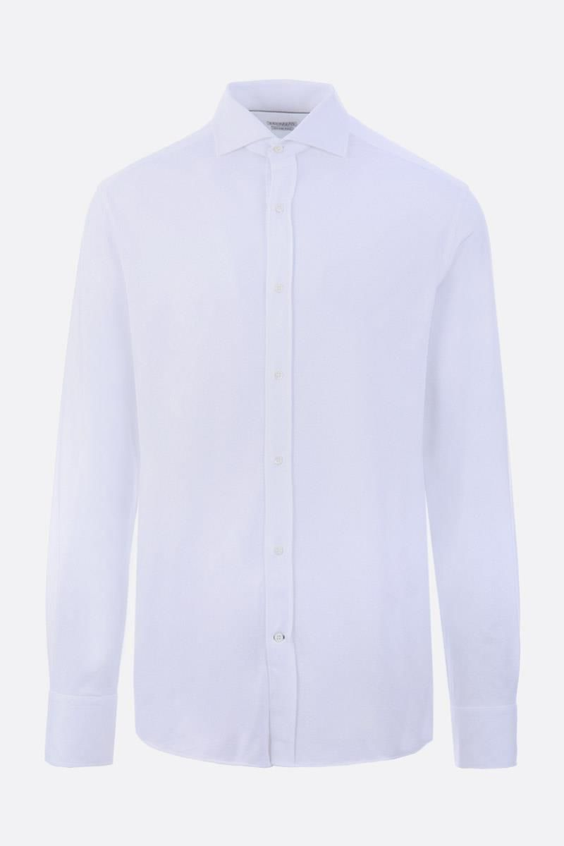BRUNELLO CUCINELLI: cotton jersey shirt Color White_1