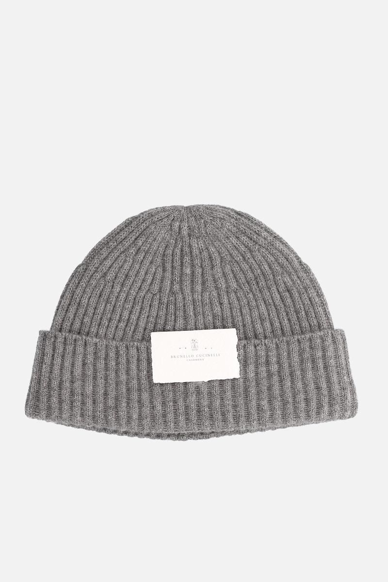 BRUNELLO CUCINELLI: cashmere knit beanie Color Grey_1