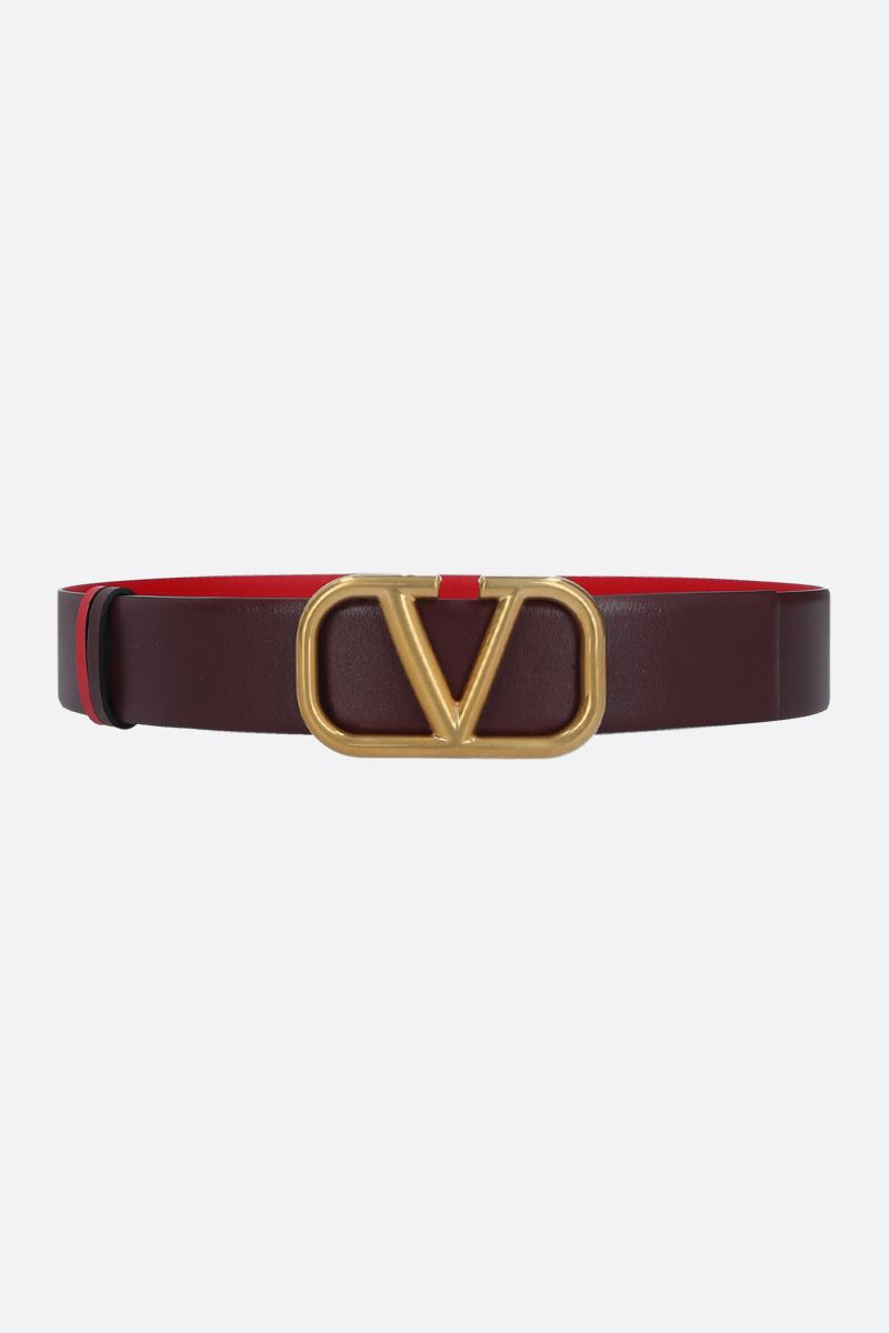 VALENTINO GARAVANI: VLOGO smooth leather reversible belt_1
