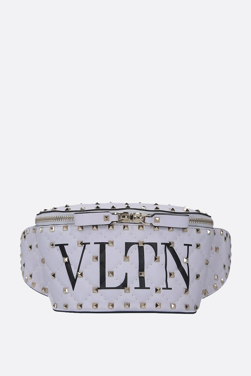 VALENTINO GARAVANI: Rockstud Spike.It VLTN belt bag in quilted nappa Color Multicolor_1