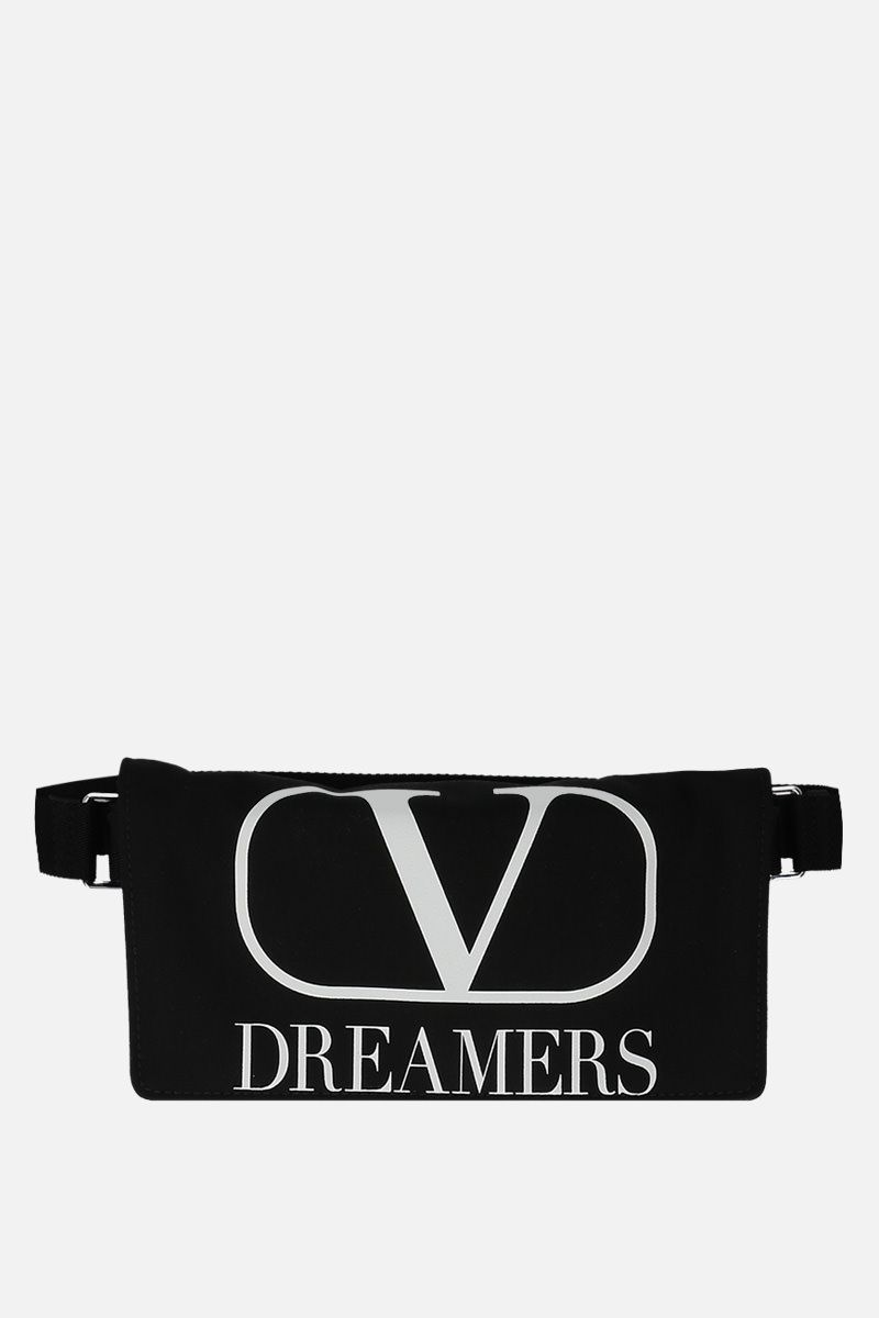 VALENTINO GARAVANI: VLOGO DREAMERS nylon belt bag Color Black_1