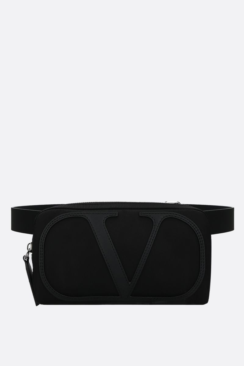 VALENTINO GARAVANI: VLOGO nylon belt bag Color Black_1