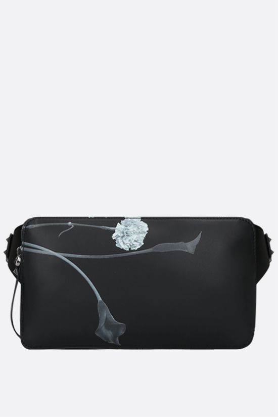 VALENTINO GARAVANI: Flowersity smooth leather belt bag Color Black_1