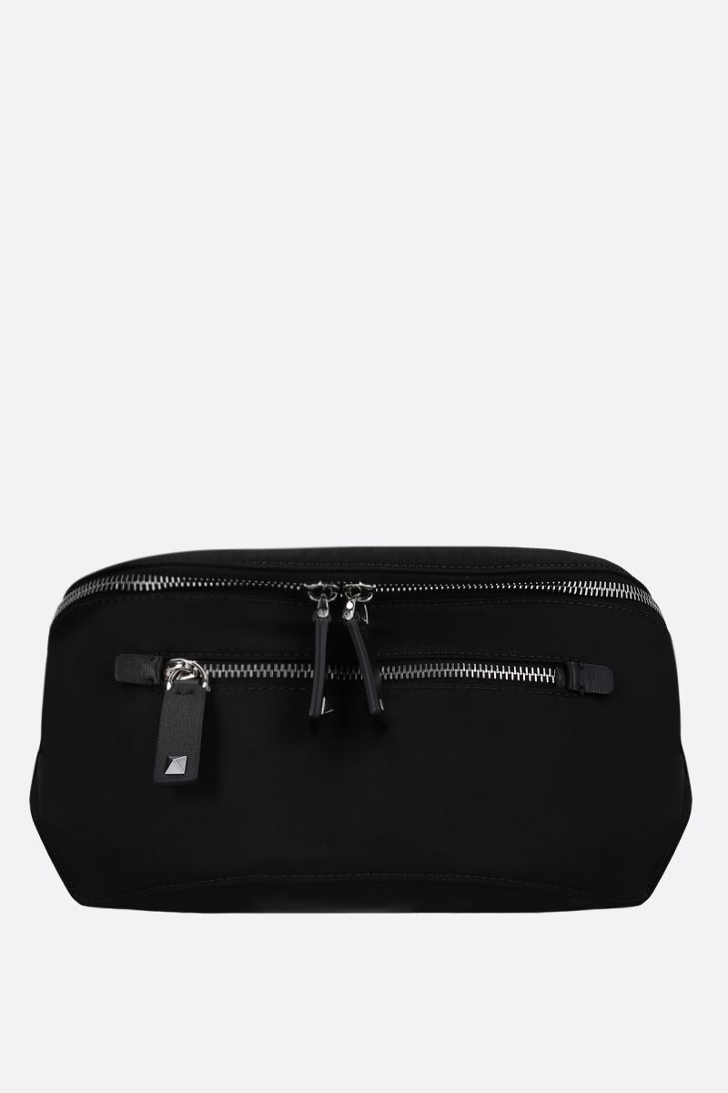 VALENTINO GARAVANI: VLTN nylon belt bag Color Black_1
