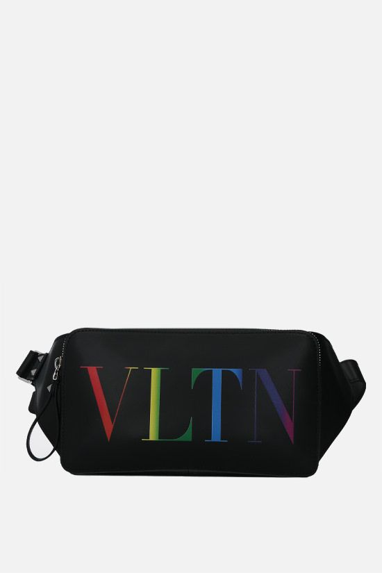 VALENTINO GARAVANI: VLTN smooth leather belt bag Color Black_1