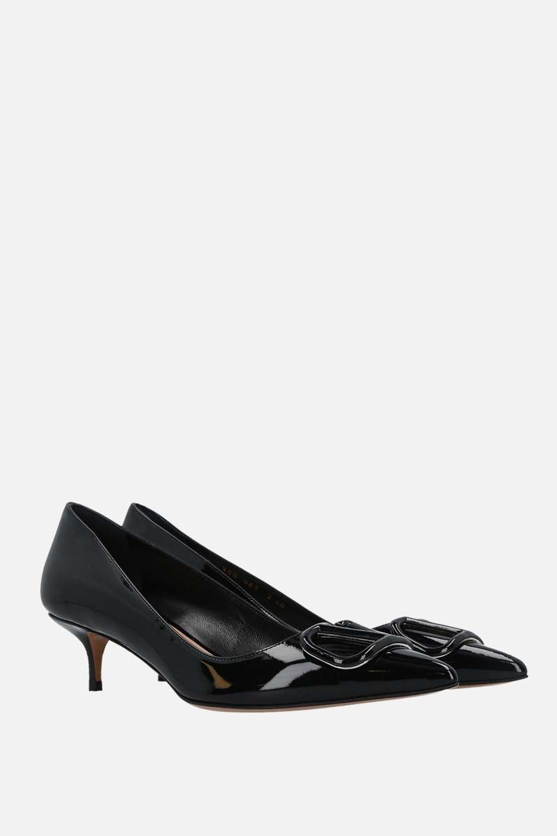 VALENTINO GARAVANI: VLOGO patent leather pumps Color Black_2