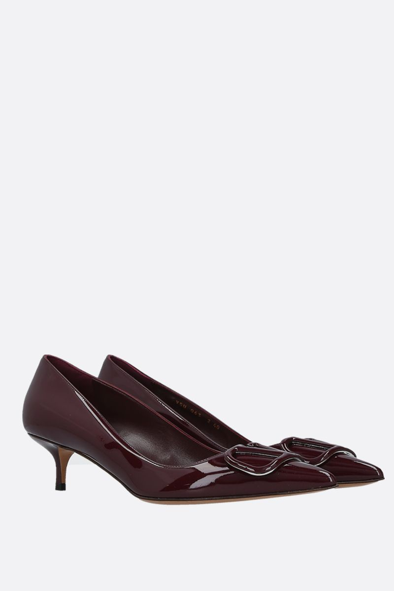 VALENTINO GARAVANI: VLOGO patent leather pumps Color Red_2