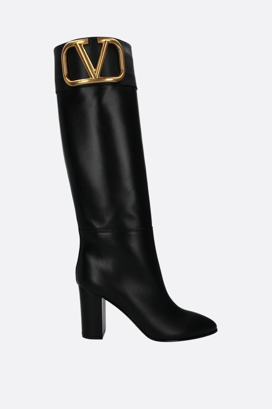 VALENTINO GARAVANI: Supervee smooth leather boots Color Black_1
