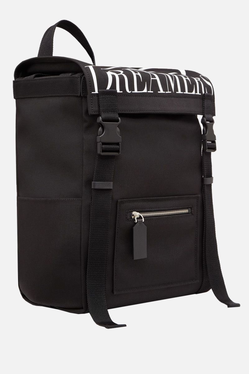 VALENTINO GARAVANI: VLOGO DREAMERS nylon backpack Color Black_2