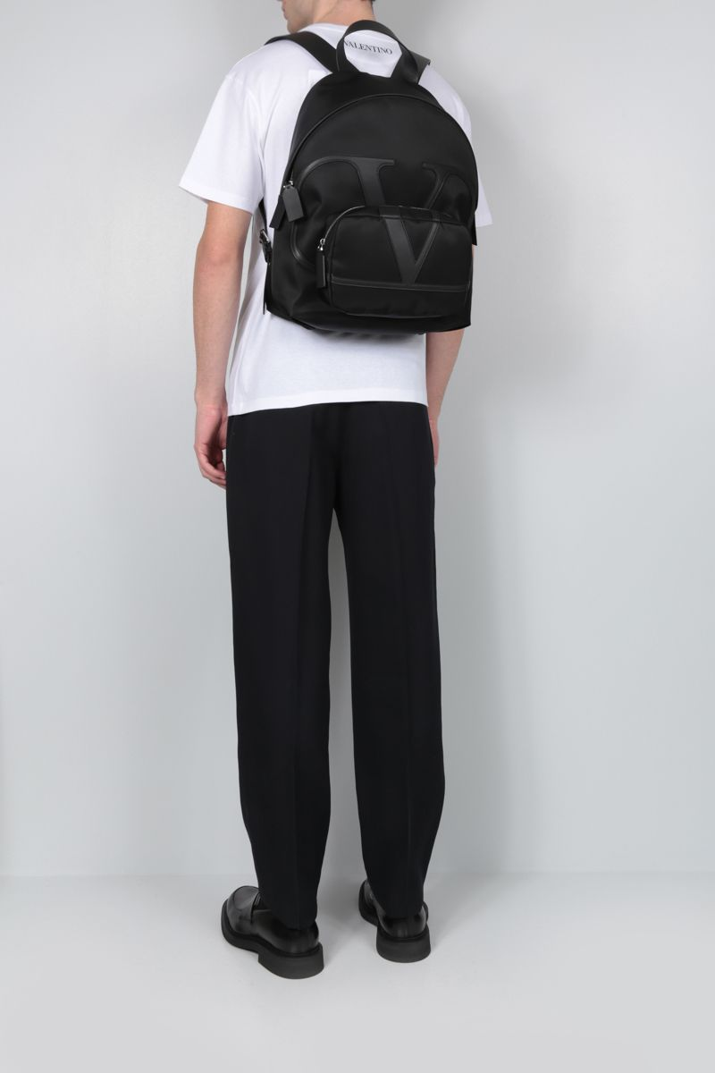 VALENTINO GARAVANI: VLOGO nylon backpack Color Black_2