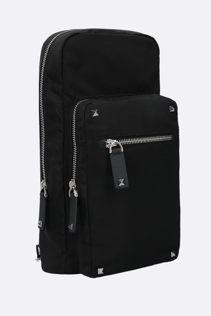 VALENTINO GARAVANI: VLTN nylon one-shoulder backpack Color Black_2
