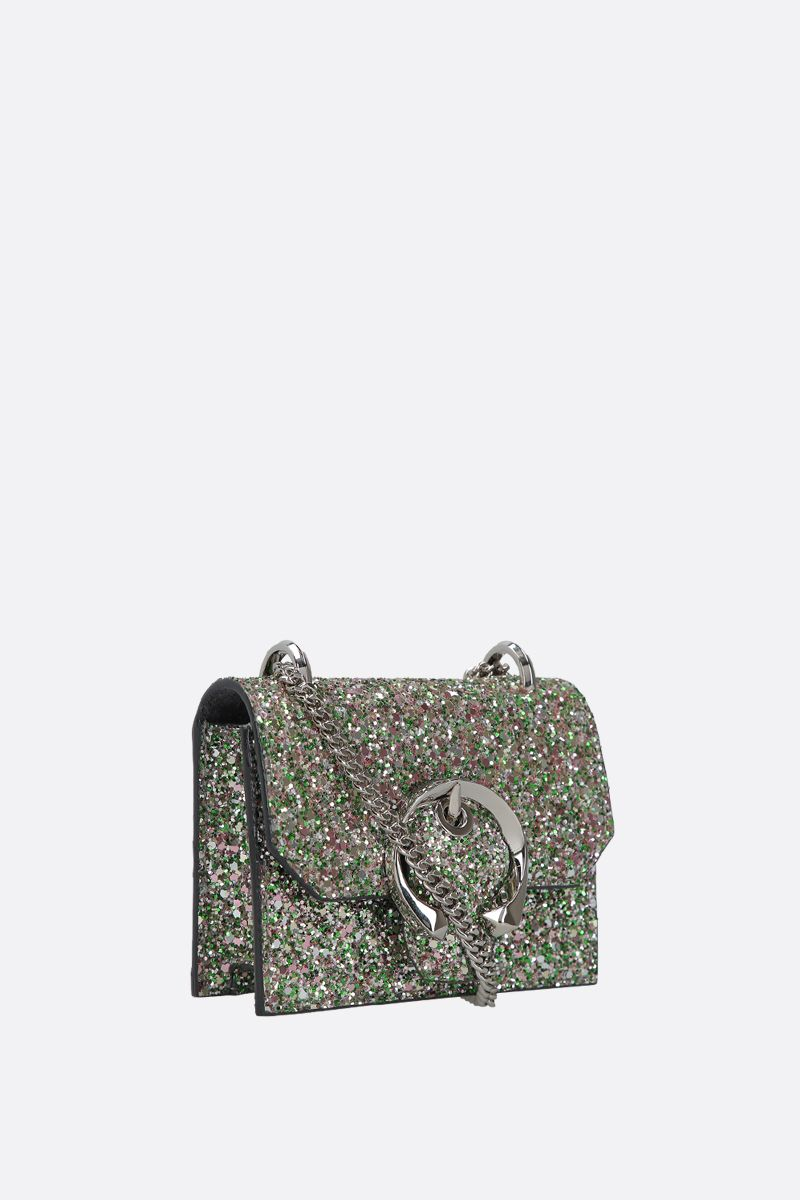 JIMMY CHOO: borsa a tracolla mini Paris in tessuto glitter_2
