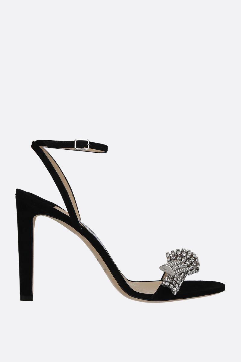 JIMMY CHOO: Thyara suede sandals Color Black_1