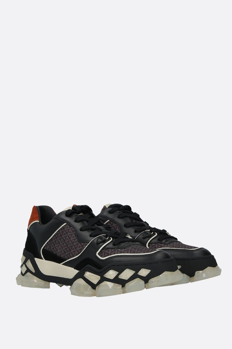 JIMMY CHOO: sneaker Diamond X/F in un mix di materiali Colore Nero_2