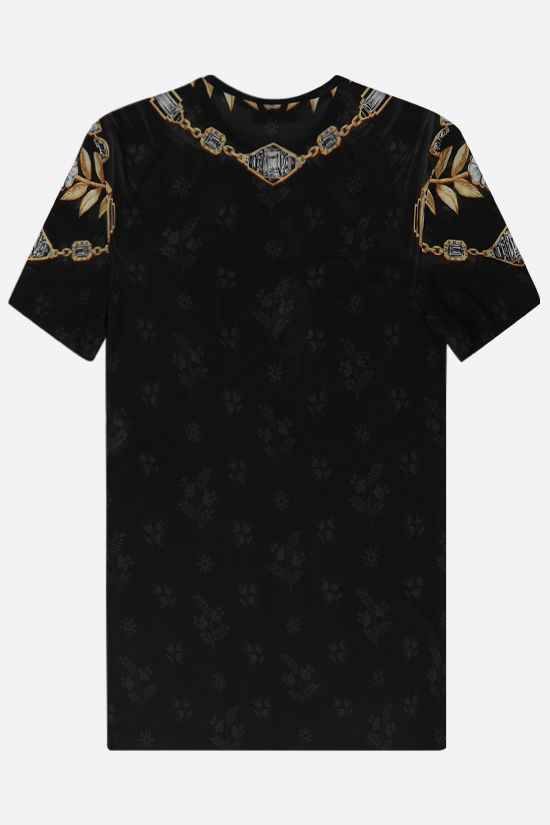 PACO RABANNE: t-shirt Jewel in jersey stretch Colore Nero_2