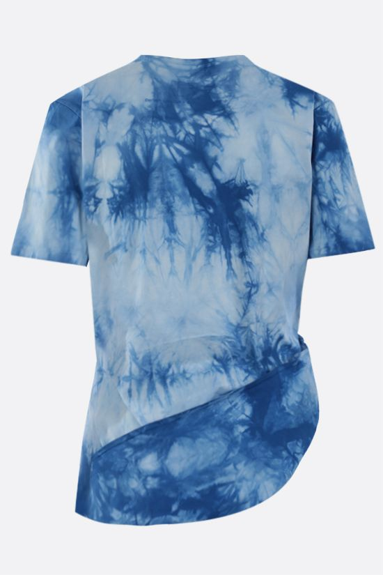 PACO RABANNE: Lose Yourself. print cotton cropped t-shirt Color Blue_2