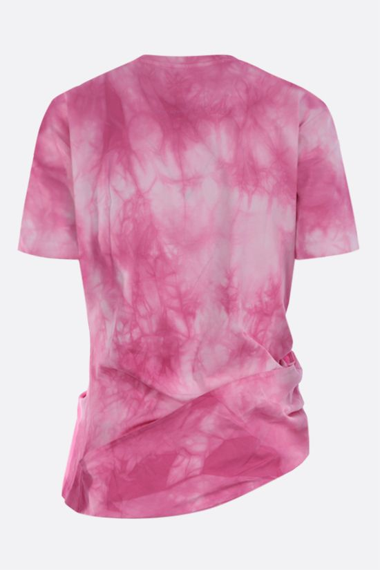 PACO RABANNE: Lose Yourself. print cotton cropped t-shirt Color Pink_2