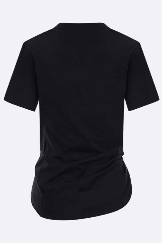 PACO RABANNE: City cotton cropped t-shirt Color Black_2