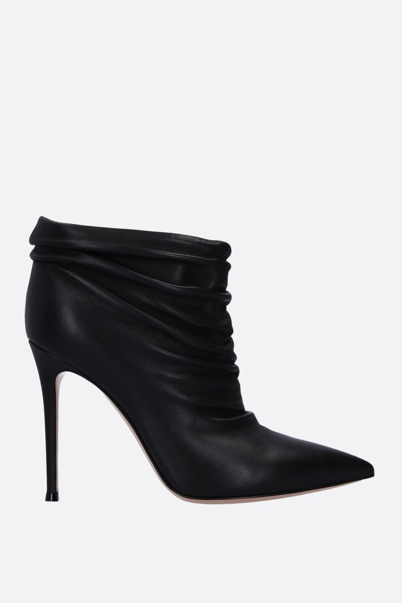 GIANVITO ROSSI: Cyril ankle boots in soft draped nappa Color Black_1
