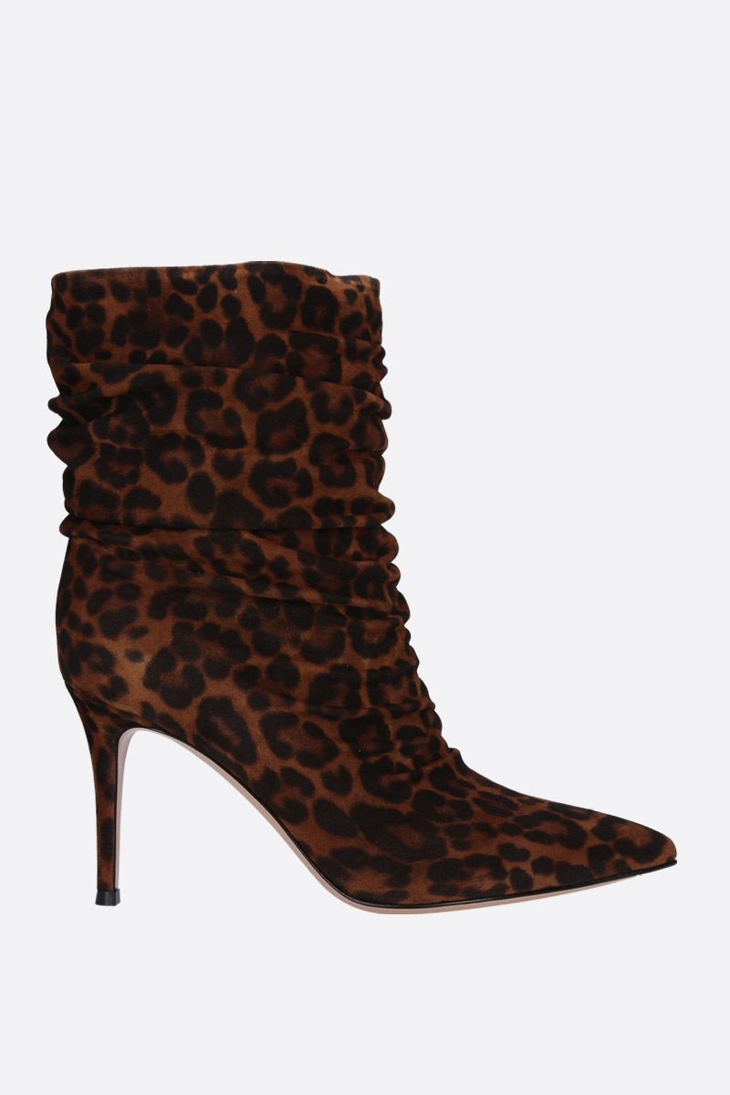 GIANVITO ROSSI: Cecile ankle boots in leopard suede_1