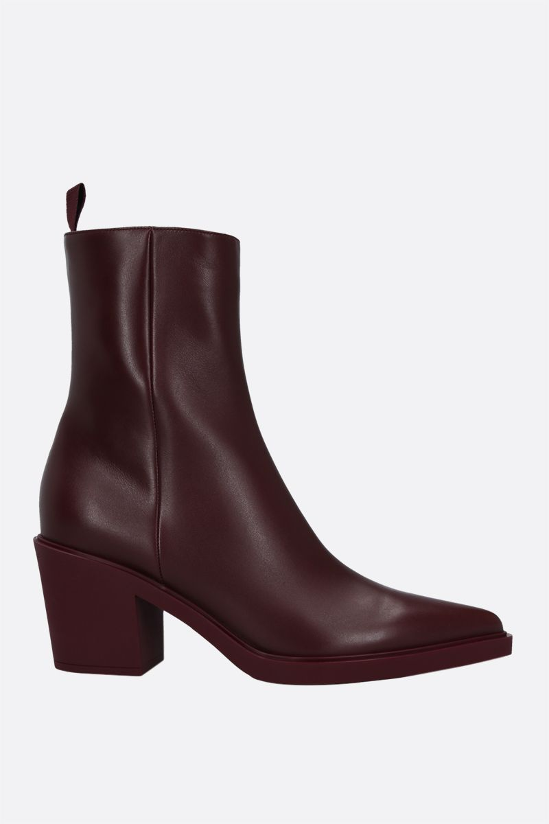 GIANVITO ROSSI: Dylan smooth leather ankle boots Color Red_1