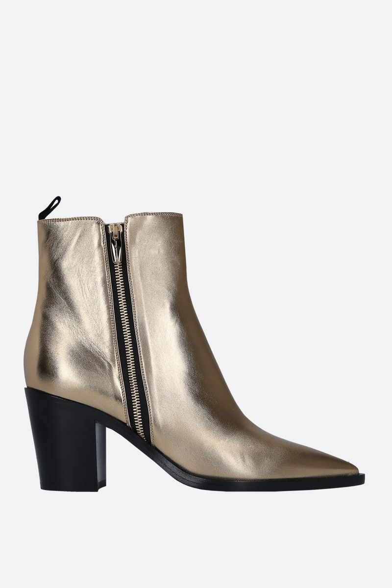 GIANVITO ROSSI: Mekong ankle boots in laminated leather_1