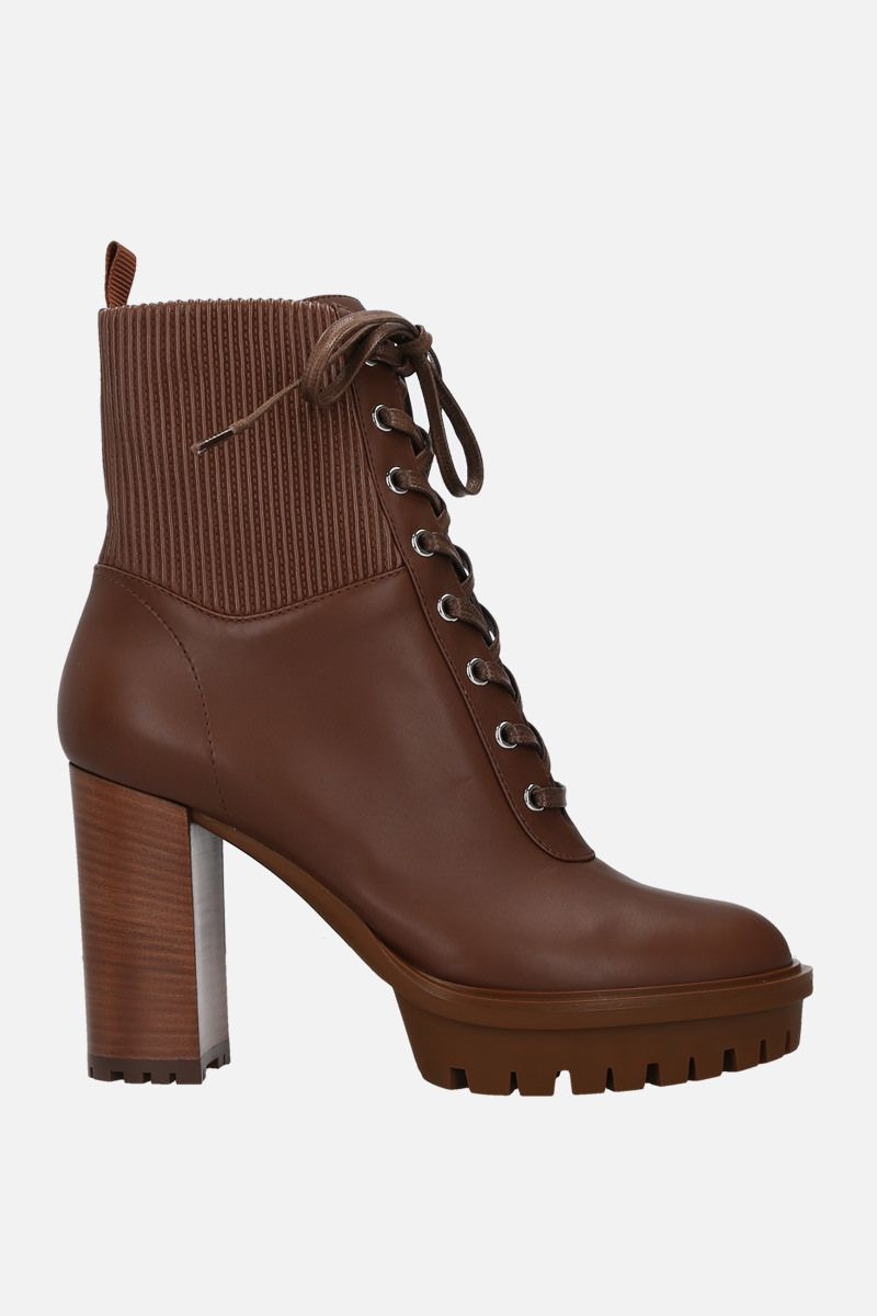 GIANVITO ROSSI: Martis smooth leather lace-up booties_1