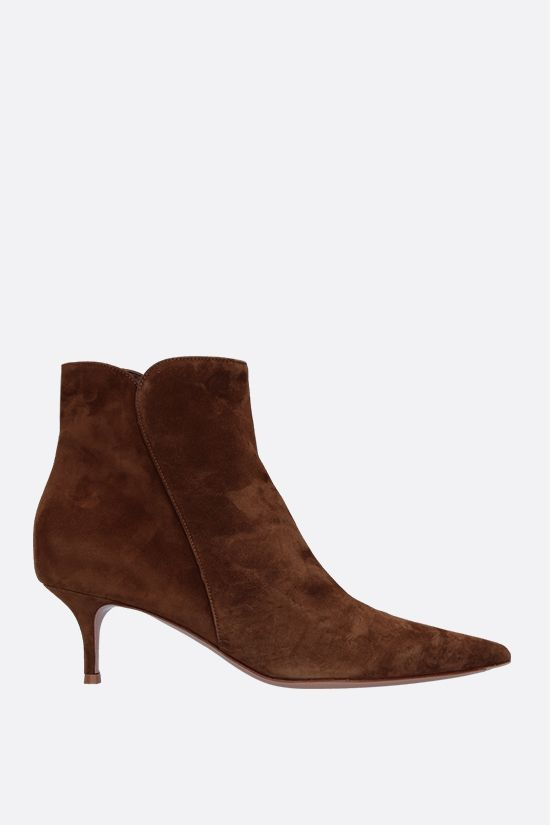GIANVITO ROSSI: stivaletto Texas in suede Colore Marrone_1