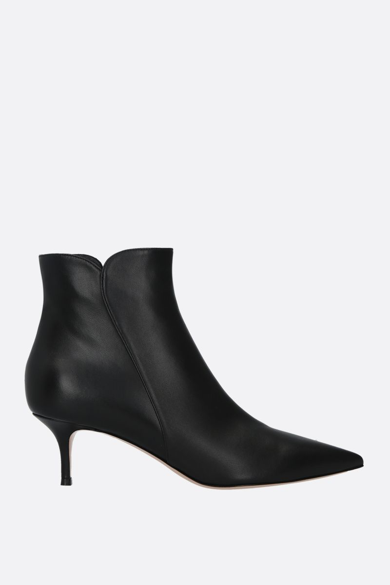 GIANVITO ROSSI: Landon soft nappa ankle boots Color Black_1