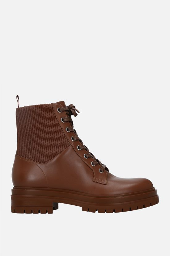 GIANVITO ROSSI: Martis smooth leather combat boots Color Brown_1