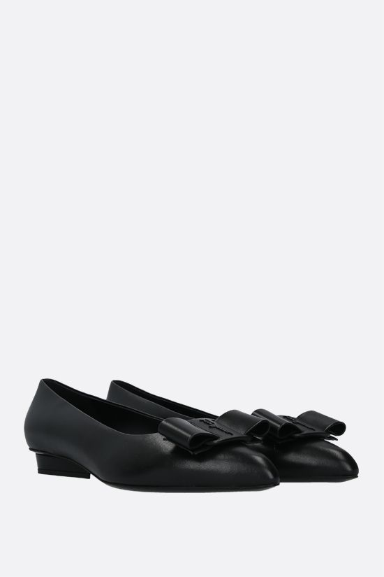 SALVATORE FERRAGAMO: Viva nappa ballerinas Color Black_2