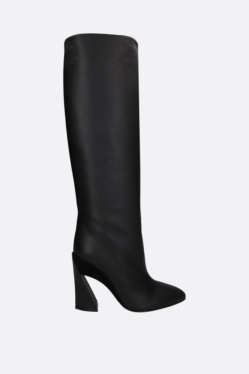 SALVATORE FERRAGAMO: Antea pull-on boots in smooth leather Color Black_1