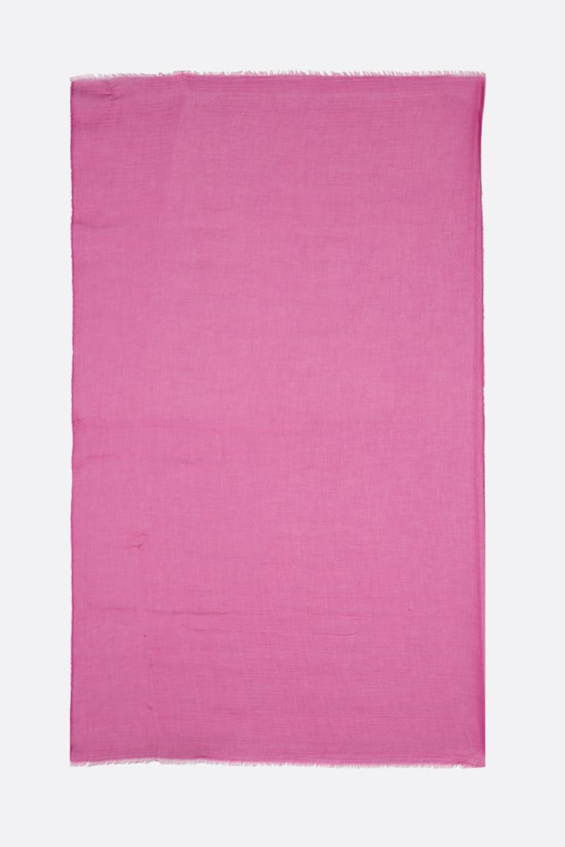 FALIERO SARTI: Tobia U stole in modal silk blend Color Pink_2