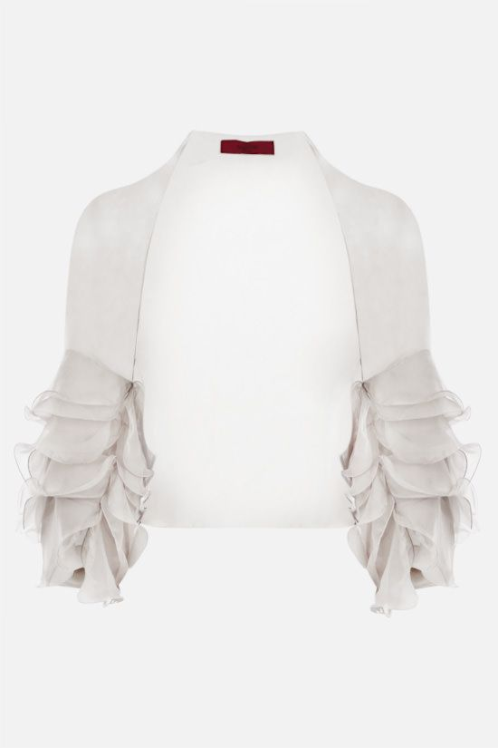 VALENTINO: silk chiffon shrug Color White_1