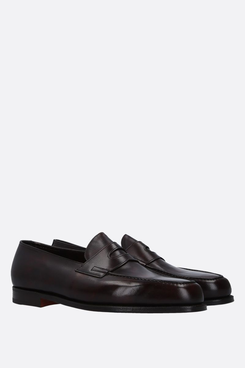 JOHN LOBB: Lopez loafers in Museum leather Color Brown_2