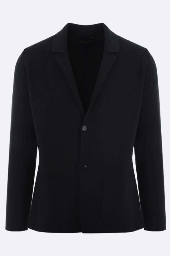 ROBERTO COLLINA: single-breasted cotton jacket Color Black_1