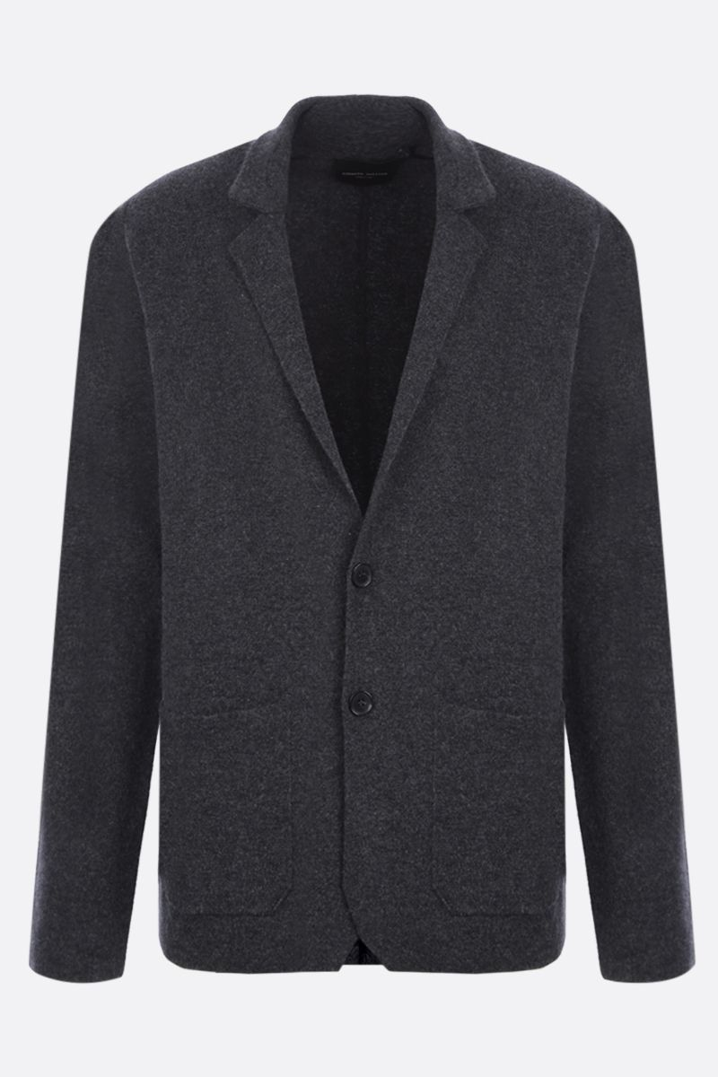 ROBERTO COLLINA: single-breasted cashmere wool blend jacket Color Grey_1