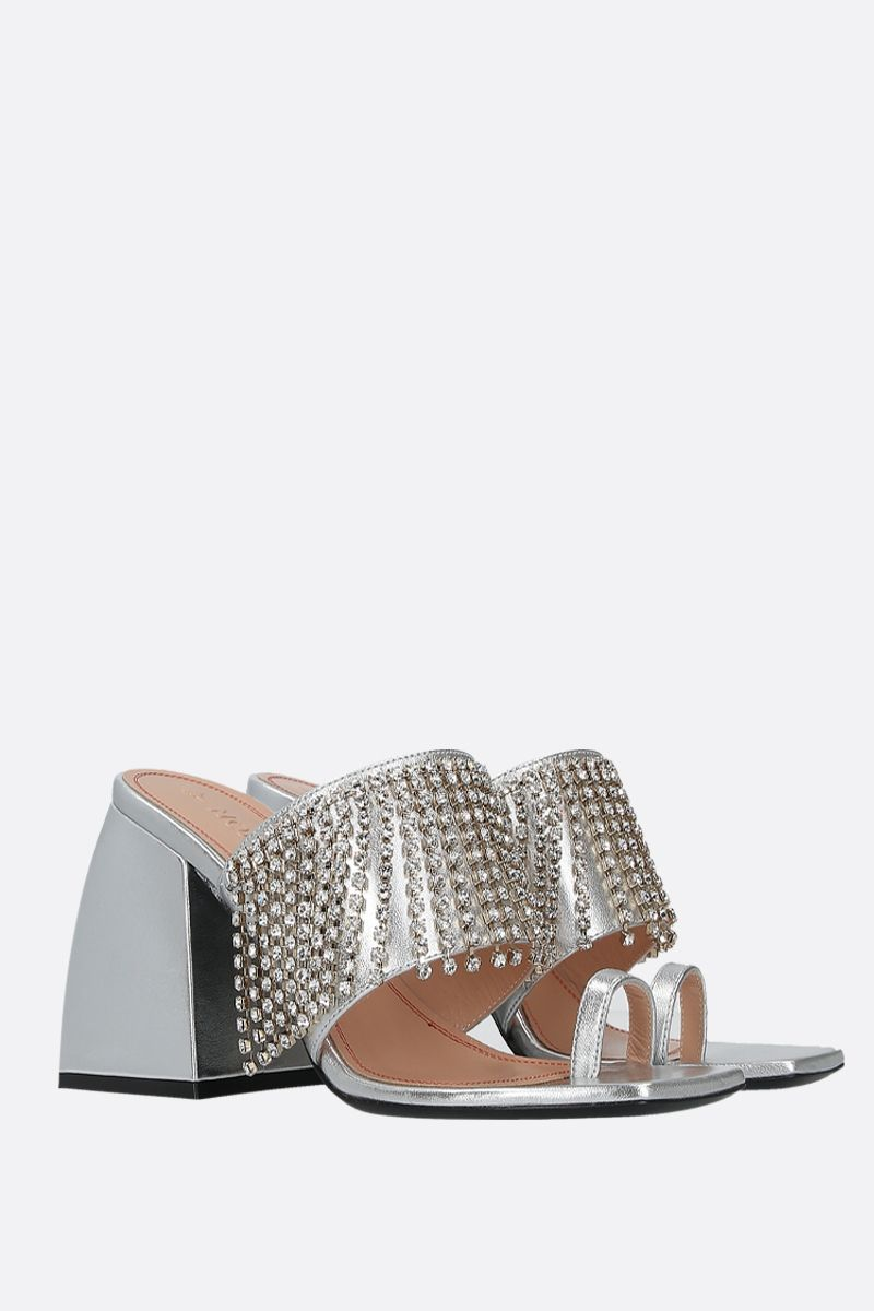 NODALETO: Bulla Preston laminated nappa mule sandals_2