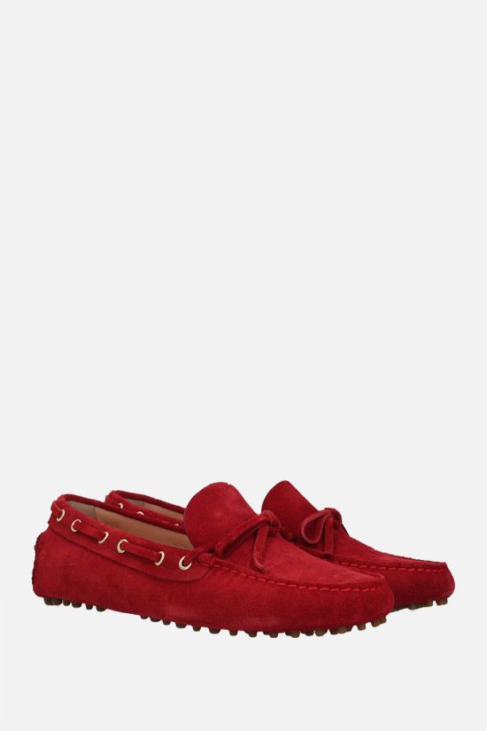 CAR SHOE: suede driving loafers Color Red_2