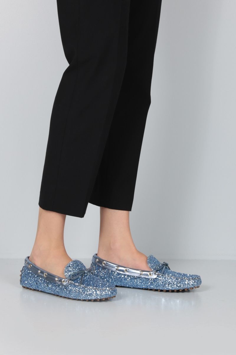 CAR SHOE: glitter fabric driving loafers Color Multicolor_2