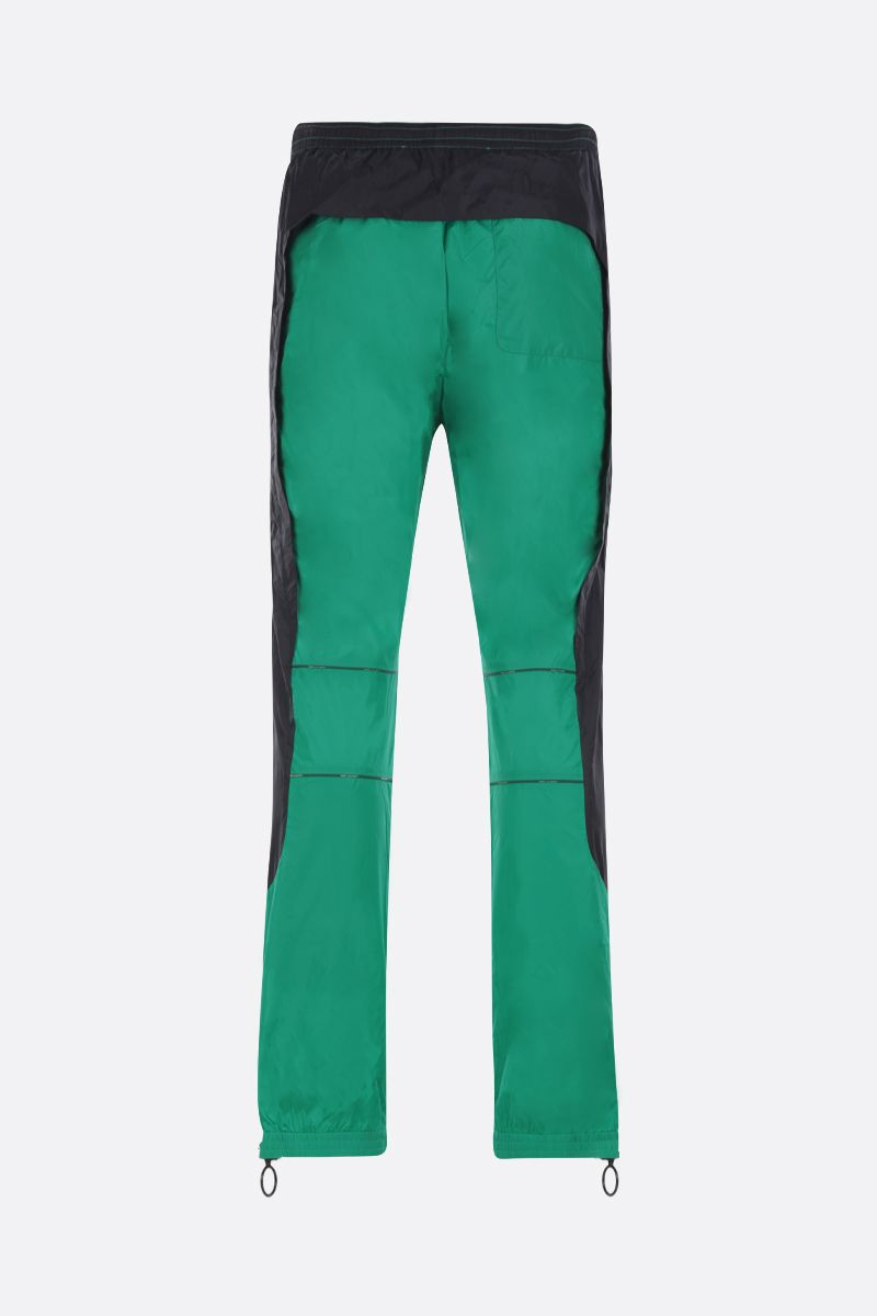 OFF WHITE: pantalone jogging River Trail in nylon Colore Verde_2