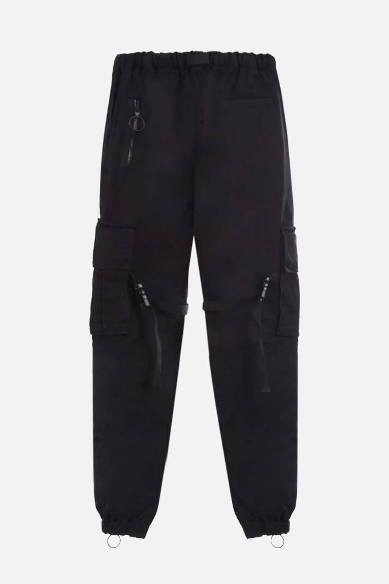OFF WHITE: cotton cargo pants Color Black_2