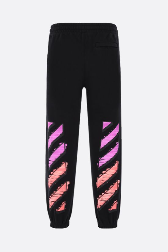 OFF WHITE: Marker cotton joggers Color Black_2