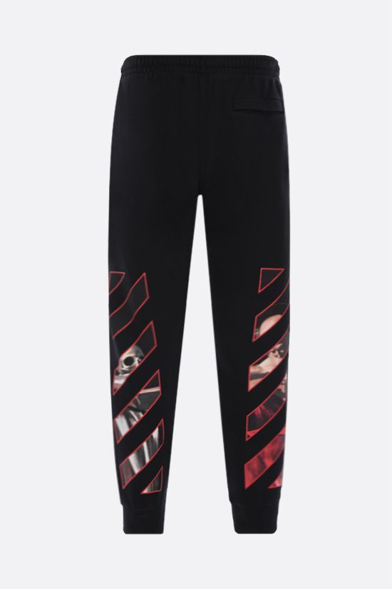 OFF WHITE: Caravaggio cotton joggers Color Black_2