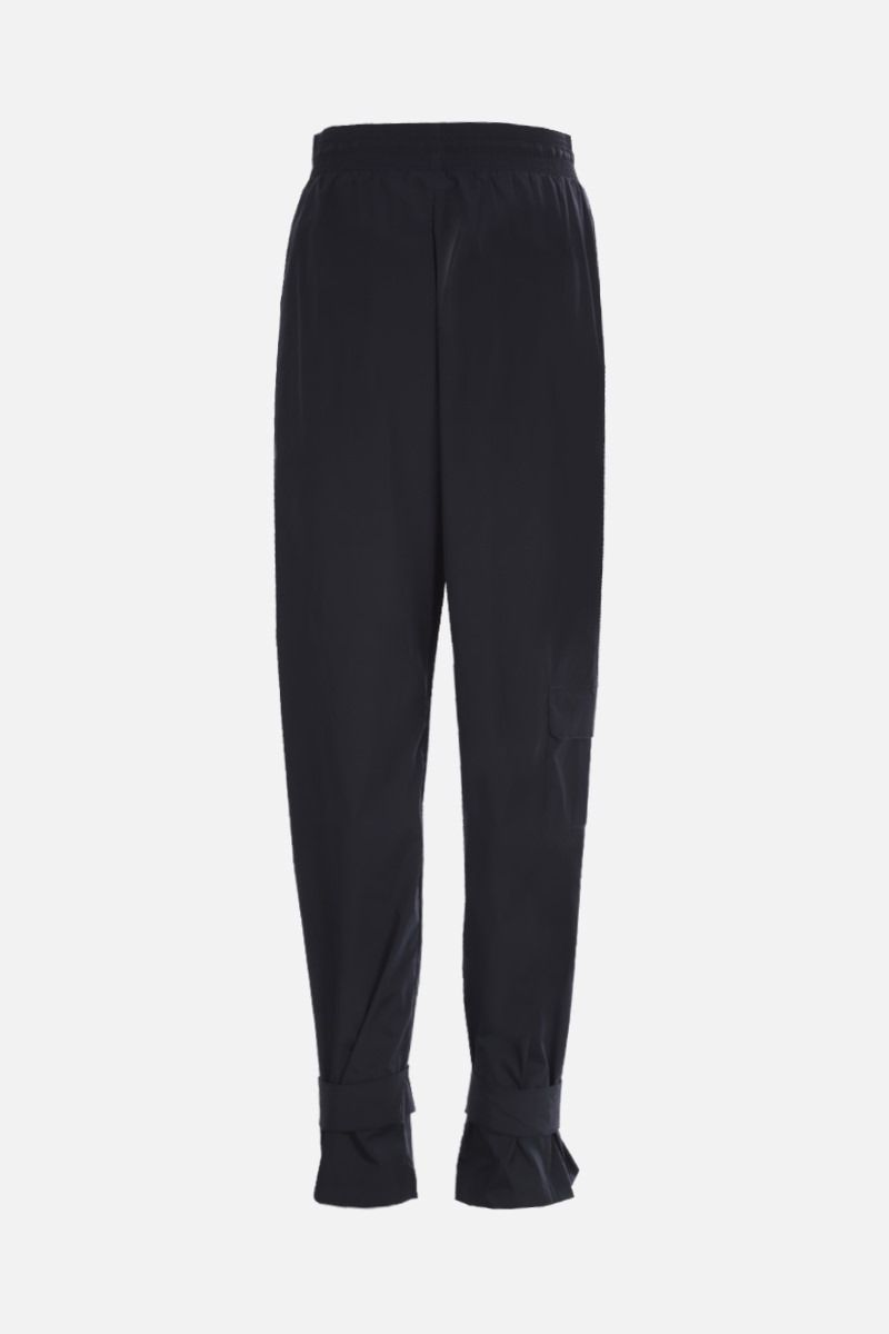 OFF WHITE: pantalone jogging in nylon patch Arrow Colore Nero_2