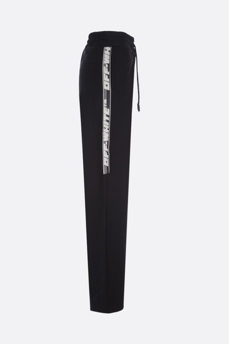 OFF WHITE: Athletic Logo jersey joggers Color Black_2