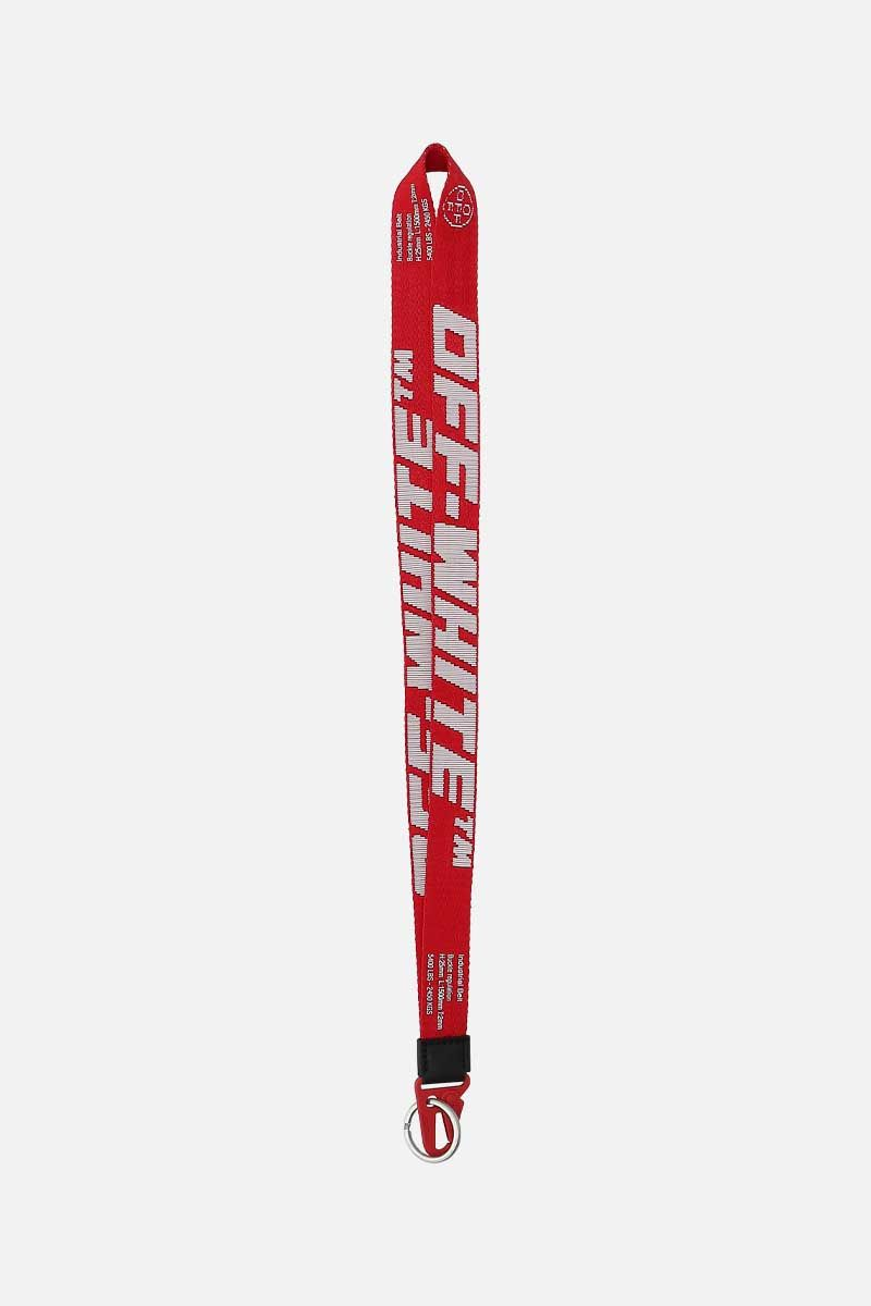 OFF WHITE: Industrial logoed fabric key lanyard Color Multicolor_1